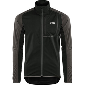 GORE WEAR C3 Gore Windstopper Jacket Herre black/terra grey